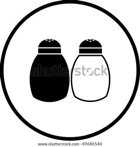 Royalty Free Stock Illustration Of Salt Pepper Shakers Symbol Stock