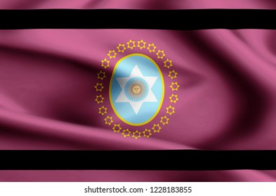 Salta modern and realistic closeup flag illustration. Perfect for background or texture purposes.