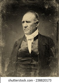 Sam Houston, Democratic Senator from Texas. half plate daguerreotype, gold toned, ca. 1848