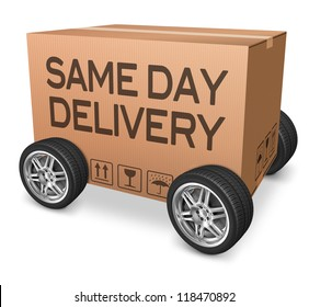 same day delivery package from online internet web shop