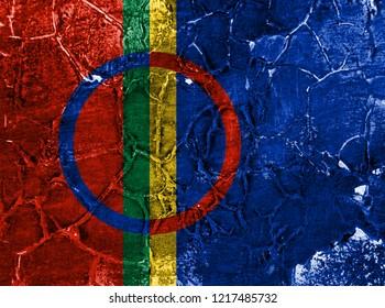 Sami grunge flag, Norway dependent territory flag
