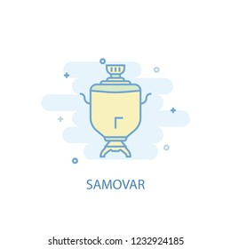 samovar line trendy icon. Simple line, colored illustration. samovar symbol flat design from Russia set. Can be used for UI/UX