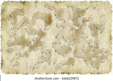 Sample of an ancient map of land