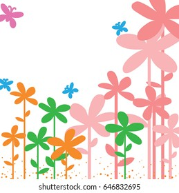 Sample Your Text Here Card With Colorful Flower In Frame Wallpaper Or Background