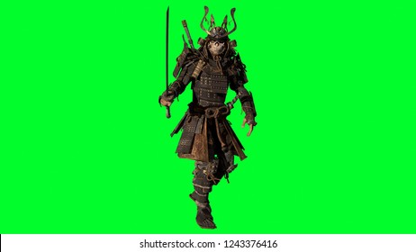 The Samurai Warrior 3d model render