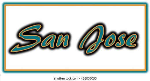 San Jose Word Clip Art