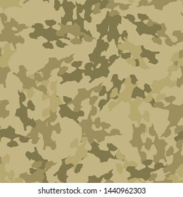 Sand camouflage of various shades of green, olive and beige colors. It is a colorful seamless pattern that can be used as a camo print for clothing and background and backdrop or computer wallpaper