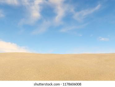 sand and sky - 3D illustration