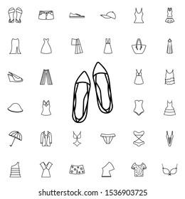 Sandals icon. Universal set of summer clothes for website design and development, app development