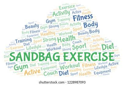 Sandbag Exercise word cloud.