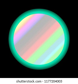 sandy dawn like southwestern gradient inside sea green circle