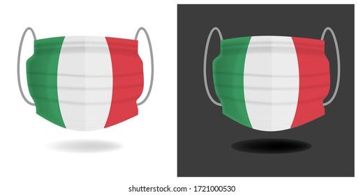 Sanitärschutzflagge mit italienischem Trikolon