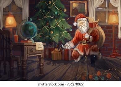 Santa bring gifts