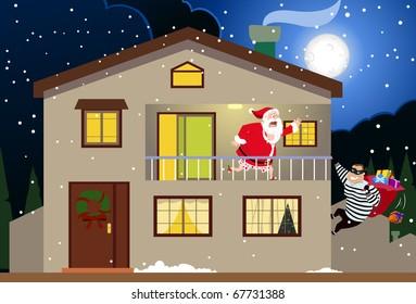 Santa & The Burglar