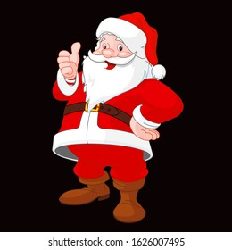Santa Claus Cartoonist Image with Black Background