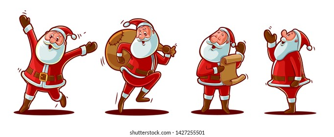 santa claus character illustration for christmas