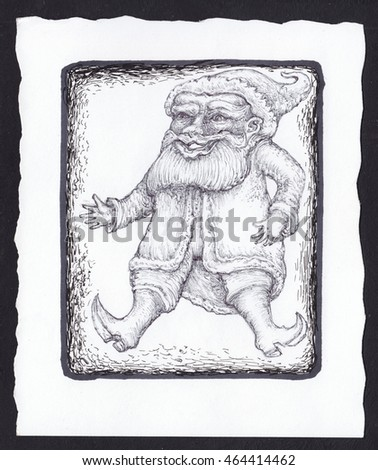 Royalty Free Stock Illustration of Santa Claus Gnome Deck