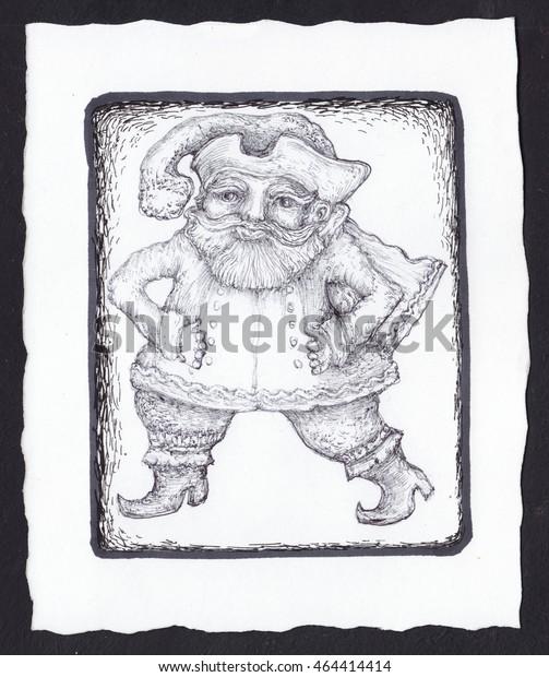 Santa Claus Gnome Deck Tarot Cards Stock Illustration 464414414