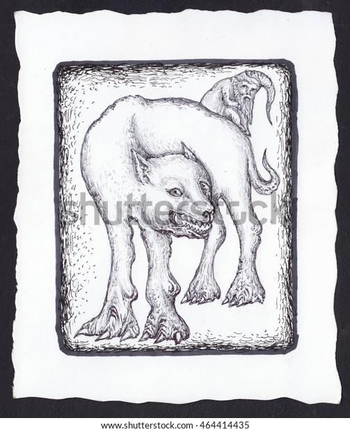 Santa Claus Gnome Deck Tarot Cards Stock Illustration 464414435