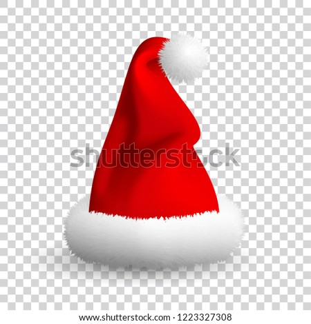 64db9290d1d Royalty-free stock illustration ID  1223327308. Santa Claus hat isolated on  transparent background. EPS 10 . - Illustration