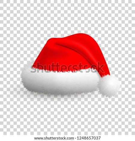 8a4b4cd3d59 Royalty-free stock illustration ID  1248657037. Santa Claus hat isolated on  transparent background. - Illustration