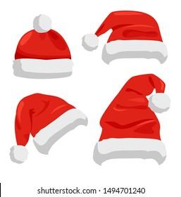 Drawing Of Santa Hat Images Stock Photos Vectors