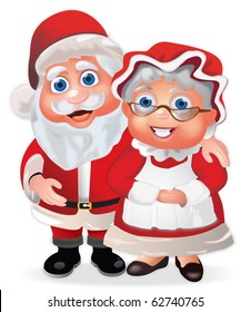 Santa Claus and his Wife Mrs Claus