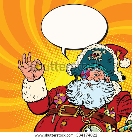 e0c5824dc07b9 Santa Claus Pirate OK Gesture Stock Illustration - Royalty Free ...