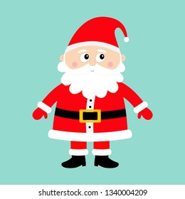 4d95c8a49f4 advent icons · christmas vector hat · santa hat flat. Santa Claus standing.  Happy New Year. Merry Christmas. White moustaches