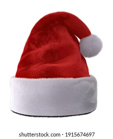 Santa Hat 3D illustration on white background