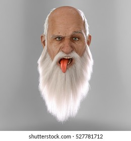 Santa loses the plot! 3D render, highly detailed.