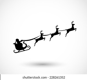 Santa on a sleigh with reindeers