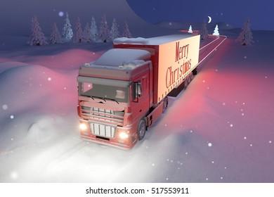 Santa truck / 3d render