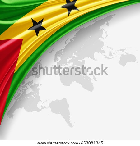Sao Tome Flag Silk Copyspace Your Stock Illustration ... Sao Tome World Map on saudi arabia world map, mauritania world map, laos world map, liberia world map, japan world map, botswana world map, portugal world map, angola world map, switzerland world map, congo world map, norway world map, guantanamo bay world map, burundi world map, peru world map, bangladesh world map, denmark world map, tonga world map, brazil world map, france world map, n korea world map,