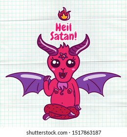 Satanic Kawaii cute Baphomet as above so below occult