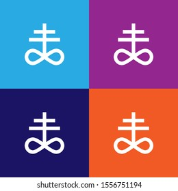 satanism leviathan cross sign icon. detailed satanism leviathan cross icon can be used for web and mobile