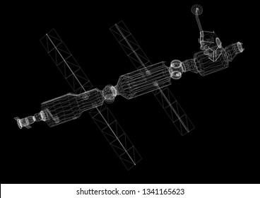 Satellite Architect blueprint 3D renderings