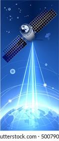 Satellite And The Globe