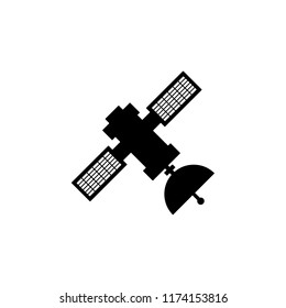 Satellite glyph icon. Simple illustration for UI and UX, website or mobile application on white background