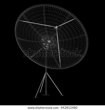 Satellite Tracking System Satellite Dish On Stock