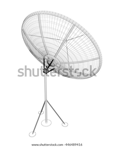 Satellite Tracking System Satellite Dish On Stock