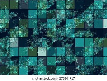 Satellite View Bitmap Illustration