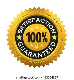 Satisfaction Guaranteed Label. 3D rendering
