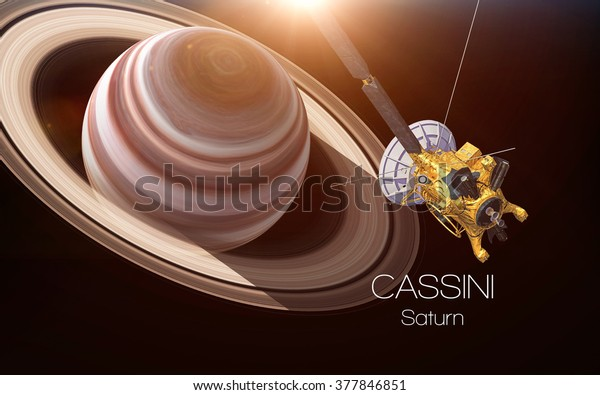 Saturn - Cassini spacecraft. This image elements furnished by NASA.