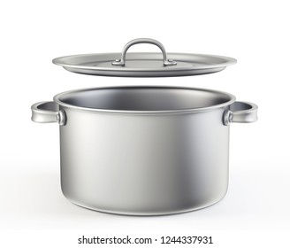 saucepan isolated on a white background. 3d illustration