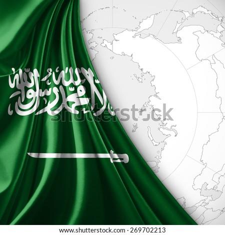 Royalty Free Stock Illustration of Saudi Arabia Flag World Map ...