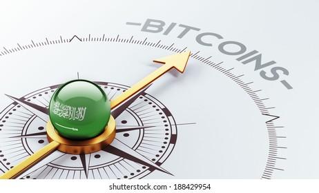 Saudi Arabia High Resolution Bitcoin Concept