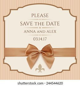 save date wedding invitation card vintage stock vector royalty free