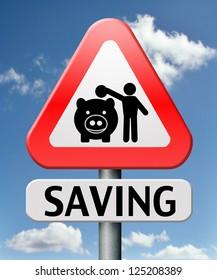 saving money in piggy bank deposit account with savings plan