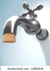 Saving Water. The cork ensures that the water does not leak.